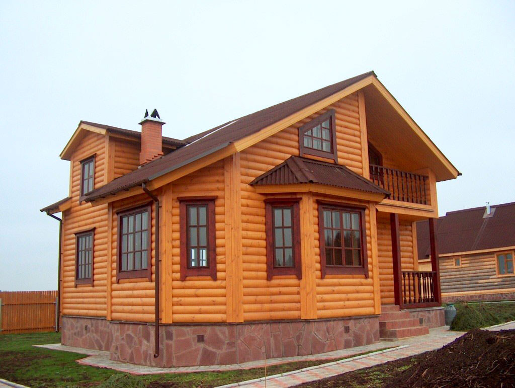 фото Блок-хаус фасад